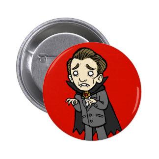 Sad Vampire 6 Cm Round Badge