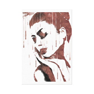Sad woman canvas print