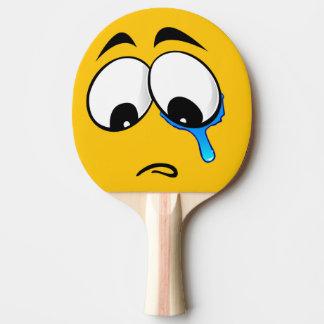 Sad Yellow Emoji Ping Pong Paddle