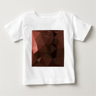 Saddle Brown Abstract Low Polygon Background Baby T-Shirt