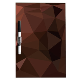 Saddle Brown Abstract Low Polygon Background Dry Erase Board
