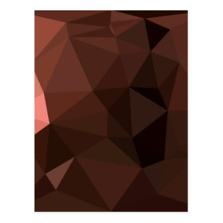 Saddle Brown Abstract Low Polygon Background Postcard