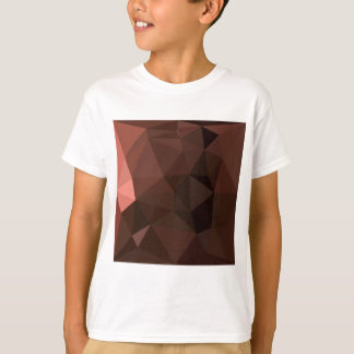 Saddle Brown Abstract Low Polygon Background T-Shirt