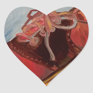 Saddle Shoe Heart Sticker