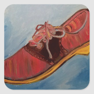 Saddle Shoe Square Sticker