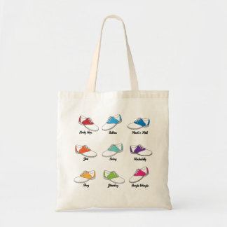 Saddle Shoes in Color with Dance Names Tote Bag