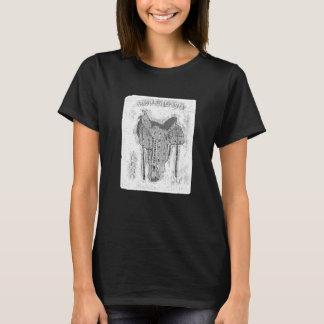 Saddle Up And Ride - Black & White T-Shirt