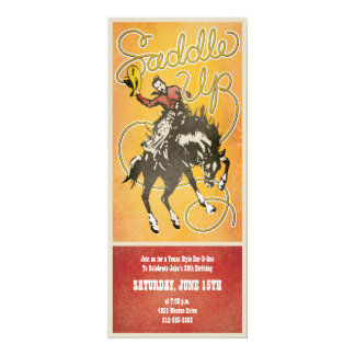 Saddle Up Cowboy Party Invitation