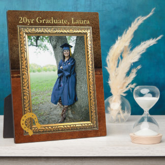 Saddle Up Tan Faux Leather Graduate Plaque