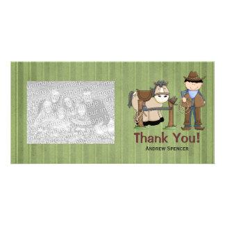 Saddle Up Thank You Photo Cards