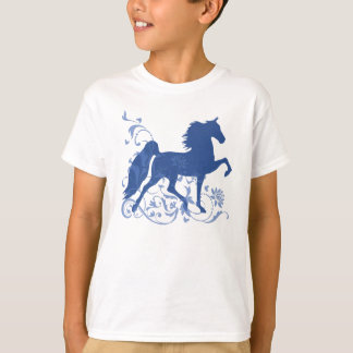 Saddlebred Five Gait Floral Blue T-Shirt
