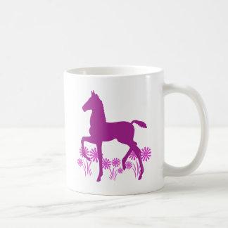 Saddlebred Foal Flowers Orchid Coffee Mug