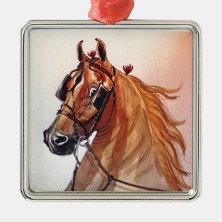 Saddlebred Horse Fine Harness Metal Ornament