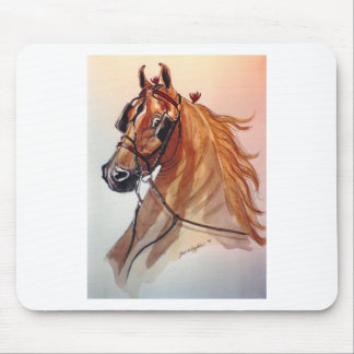 Saddlebred Horse Fine Harness Mouse Pad
