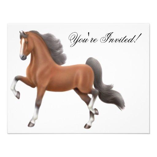 Saddlebred Horse Invitation