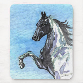 Saddlebred Horse Mousepad-Shades of Blue Mouse Pad