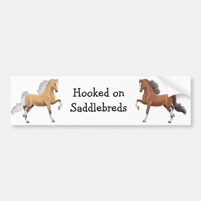 Saddlebred Horses Bumper Sticker