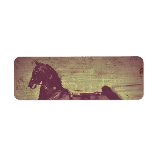 Saddlebred Song Return Address Label