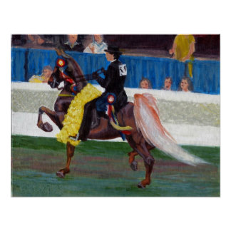 Saddlebred The Winning Pass Horse Portrait Poster