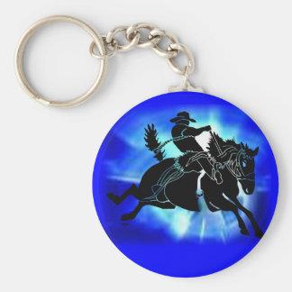 Saddlebronc 202 basic round button key ring