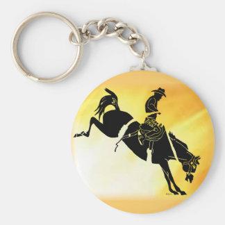 saddlebronc 301 basic round button key ring