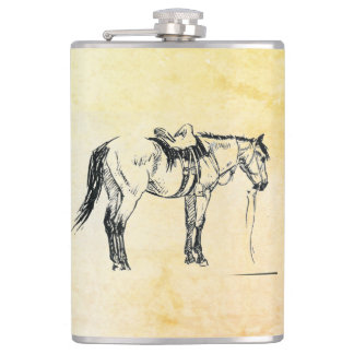 Saddled Horse Flask