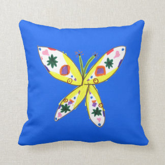 SADIE BUTTERFLY Pillow in BLUE