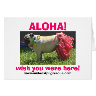 Sadie May hula girl, ALOHA!, wish you were here... Card
