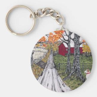 Sadie The Farm Dog Key Ring