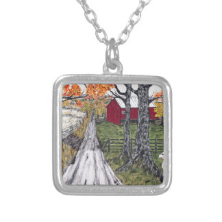 Sadie The Farm Dog Silver Plated Necklace