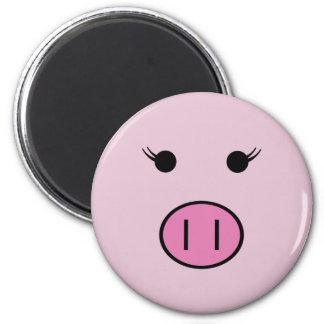 Sadie the Pink Pig 6 Cm Round Magnet