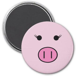Sadie the Pink Pig 7.5 Cm Round Magnet