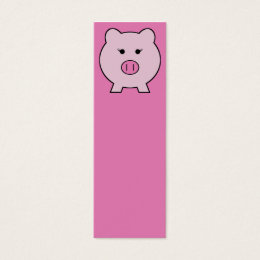 Kawaii faces business cards business card printing zazzle sadie the pink pig cute girly kawaii mini business card colourmoves
