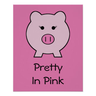 Sadie the Pink Pig Poster