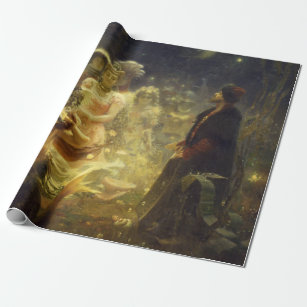Sadko in the Underwater Kingdom Ilya Repin Mermaid Wrapping Paper