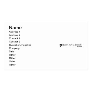 SAE Brand Black Pack Of Standard Business Cards