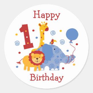 Safari 1st Birthday Custom Sticker