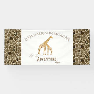 Safari Adventure Baby Boy Shower Room Name Banner