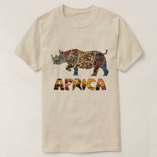 Safari African Black Rhino Tshirt