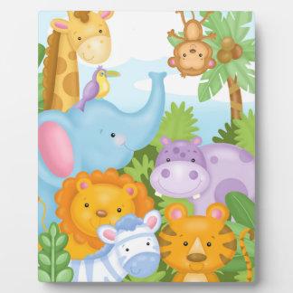Safari Animal Art Easel Plaque