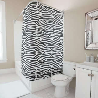 Safari Animal Zebra Print Shower Curtain