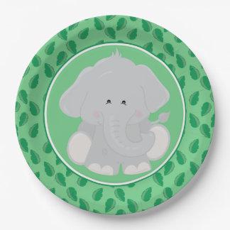 Safari Animals | Baby Elephant Paper Plate