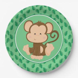 Safari Animals | Baby Monkey 9 Inch Paper Plate