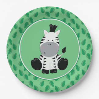 Safari Animals | Baby Zebra Paper Plate
