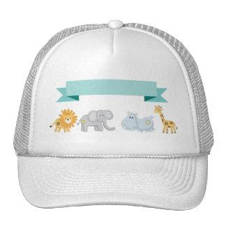 Safari Animals Banner Mesh Hats