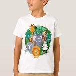 Safari Animals Cartoon Shirts