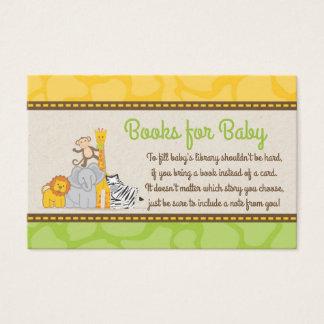 Safari Baby Shower Books Request Card