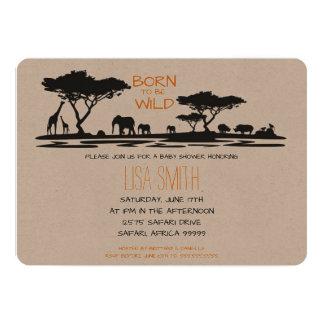 Safari Baby Shower Card