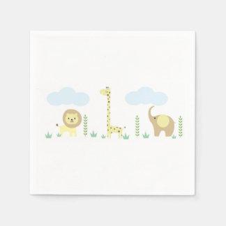 Safari Baby Shower Napkins Paper Serviettes