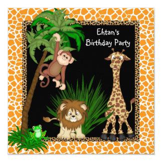 Safari Birthday Party Invitation Card